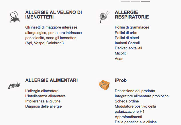 Anallergo Web Site - gallery