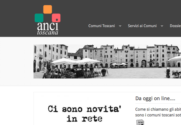 Anci Toscana web Site - gallery
