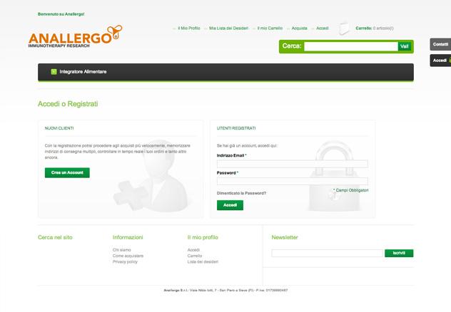 Anallergo e-Commerce - gallery